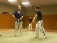 Mains collantes illustrées avec Tonfa Happoken
